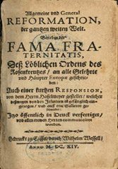 Fama Fraternitatis – History (From The Fame and Confession of the Fraternity of the R:C:)