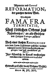 Fama Fraternitatis (Introduction by Alexandre David)